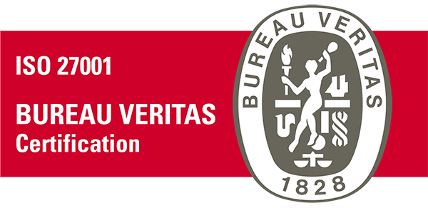 ISO 27001:2013 certified by Bureau Veritas